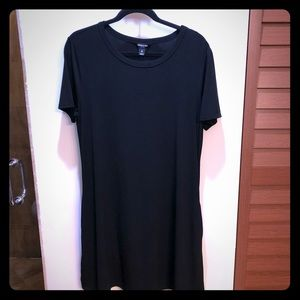 Solid Black Shift Style Dress
